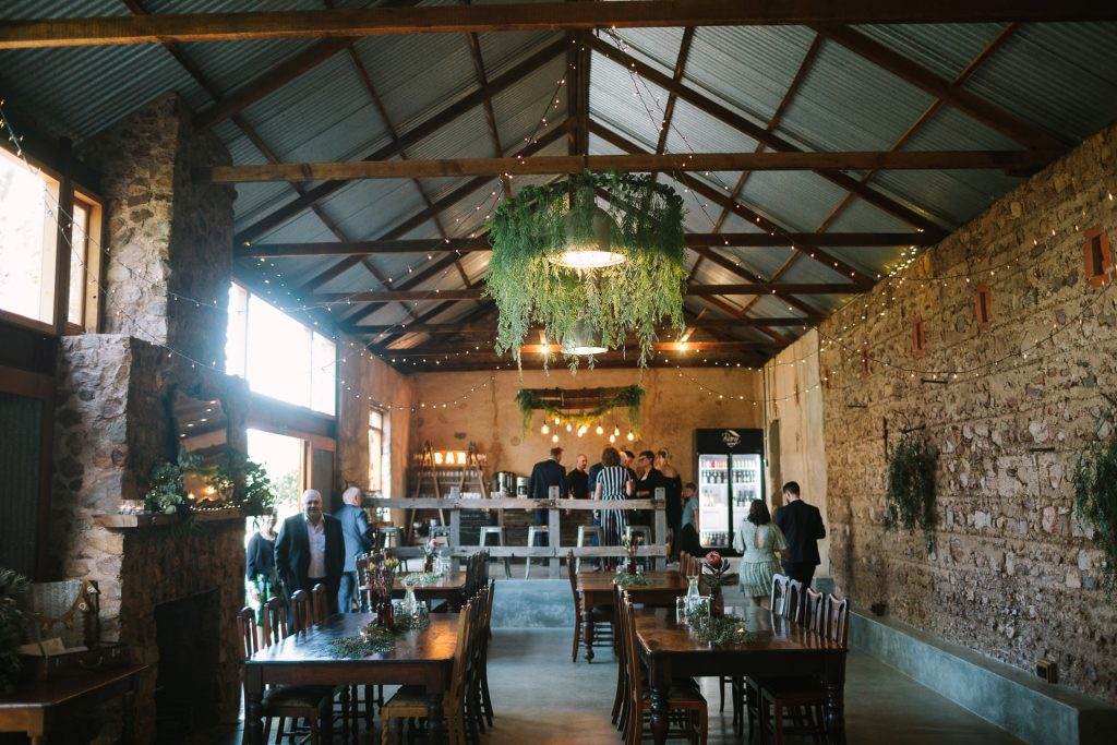 Barn 1890 wedding reception setup